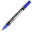 (Deli) small double-headed multi-purpose oil marker pen set 10 / box (7 black +2 blue +1 red) 33200