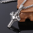 316L Stainless Steel Cross Necklace Famous Brand Silver Chain Men Cross Pendant Necklaces Perfect Design