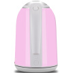 Grelide Electric Kettle 304 Stainless Steel Electric Kettle Double Layer Heatproof 1.7L D1513A (Pink)