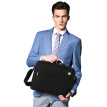 LEXON (LEXON) waterproof fabric business casual laptop bag 14-inch shoulder briefcase briefcase LNE9014N06T black