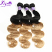 Queen Hair Products Peruvian Body Wave Virgin Hair 3 Bundles Ombre Peruvian Virgin Hair Blonde Weave Tissage Cheveux Humain 1b27
