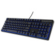 SteelSeries Apex M500 Blue Edition Game Machine Keyboard Black Green Axis