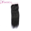 Virgin Brazilian Straight Hair With Closure Natural Black 7a Virgin Straight Hair With Lace Closure 3 Bundles With Closure