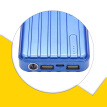 Portable Charger 12000mAh Power Bank USB Battery Pack 2.0 USB Ports Li-polymer Battery External Battery For Smartphones Blue