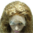 N.L.W. European virgin human hair Curly  Full lace wigs with baby hair #27 Dark blonde color