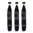 SZC Hair 8-26 inches 100% Virgin Hair Straight Peruvian Human Hair Weave Extension Unprocessed 3 Bundles Natural Black #1B Color