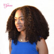 Clymene Hair Short Bob Lace Front Wigs Human Hair with 5x4.5 Silk Top Virgin Brazilian Glueless Kinky Curly Front Lace Wigs