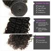 Peruvian Curly Wave Virgin Hair 3 Bundles Unprocessed Human Hair Weave Extensions Natural Color SZC Hair Products