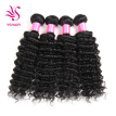 YS HAIR 4 Bundles Brazilian Virgin Hair Deep Wave Hair Extensions 7A Grade Unprocessed Human Hair Wave Natural Color Can Be Dyed a