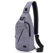 [Jingdong Supermarket] Tianyi TINYAT Korean version of the trend of small backpack men's chest bag leisure Messenger bag running riding pockets sports bag waterproof shoulder bag T609 gray