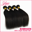 Indian Virgin Hair Straight 4Bundles Rosa Hair Products Raw Indian Straight Virgin Hair 8A Virgin Human Hair Weave Bundles Deal