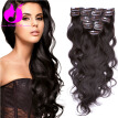 Amethyst Top 8A Grade Clip In Human Hair Extensions  Sexy Body Wave 100g Full Head Clip In Hair