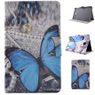 Blue Butterfly Style Classic Flip Cover with Stand Function and Credit Card Slot for Samsung Galaxy Tab E T560