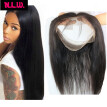 8A Unprocessed Brazilian virgin human Hair 360 lace frontals band for black women, Straight hair lace band in 22x4x2 inches