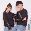 Intercrew South Korea 2017 spring new couples loaded sports sweater male loose round necklace printing T-shirt female long sleeve ITR1TM42G black 105