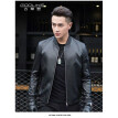 Men's leather jacket long sleeve autumn witer clothing genuine sheepskin motocycle coat real leather the newest simple style