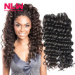 N.L.W. 10A Brazilian virgin human hair 3 bundles Deep wave hair extensions