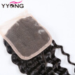 Brazilian Virgin Hair Lace Closure Deep Wave YYONG Hair Products 8A High Quality Lace Top Closure 4X4 Bleached Konts Free Shipping