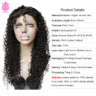 Female Star Full Lace Human Hair Wigs Kinky Curly 100% Unprocessed Brazilian Virgin Hair 180 Density Human Hair Wig For Black Wome