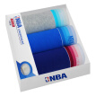 【Jingdong Supermarket】 NBA underwear men's solid color Xinjiang long-staple cotton flat-angle underwear in the waist shorts pants shorts 3 gift box Ma gray / possession of blue / sapphire blue XL