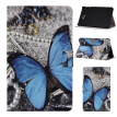 Blue Butterfly Style Classic Flip Cover with Stand Function and Credit Card Slot for Samsung Galaxy Tab A 10.1 T580N