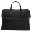 Samsonite Men's Handbag Business Briefcase Laptop Crossbody with Leather Bag BR6*09001 Black