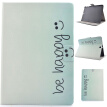 Butterfly Smile Style Classic Flip Cover with Stand Function and Credit Card Slot for Samsung Galaxy Tab S2 T815C