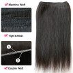 N.L.W. 10A Brazilian virgin human hair 3 bundles with frontal Silk straight hair weaves with frontal