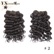Natural Color Malaysian Deep Curly Synthetic Hair Style 2Pcs Malaysian Synthetic Hair Kinky Curly 100% Kanekalon Hair Bundles Deal