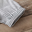 CITYPLUS Sen female art retro cotton and linen casual loose U-shaped striped short-sleeved dress CWQZ172257 striped M