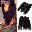 YYONG Hair Products 3 Bundles Deep Wave Brazilian Hair 8A Grade Affordable Brazilian Hair Bundles Natural Human Hair Extensions