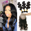 Cheap Raw Indian Hair With Closure Black Virgin Human Hair 360 Frontal With Bundles Wet And Wavy Indian Body Wave With Closure