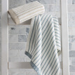 Grace towel home textiles classic stripes series of cotton strong absorbent towel two dress blue