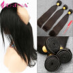360 lace frontal with bundle Products ,Bleached Knots 360 Band Lace Frontal With 3 Bundle Brazilian Hair Straight Free Shipping