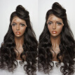 8A Brazilian Virgin Hair Lace Front Wig Body Wave Full Lace Human Hair Wigs For Black Women 130 Density Natural Color Hair Wig