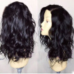 Natural Wave Brazilian Hair Lace Front Wig with natural hairline Glueless Full lace Human Hair Wavy Wigs For Black Women