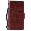 Brown Tree Design PU Leather Flip Cover Wallet Card Holder Case for IPHONE 5