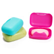 40,000 km travel portable with lock-locked soap box creative fashion compact SW2008 plastic lock pink