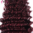 Grade 7a Malaysian Red 99j Deep Curly Virgin Hair Extension 4 pcs lot Red Burgundy Deep Curly Hair Weaving For Sexy Fashion Woman