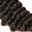 N.L.W. 10A Brazilian virgin human hair 3 bundles with closure Deep wave hair weaves with closure