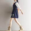 CITYPLUS School of Arts and Arts Embroidery College Wind Vest Dresses Female CWQZ16Q454 Navy L