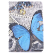 Blue Butterfly Style Classic Flip Cover with Stand Function and Credit Card Slot for iPad  Mini 1/2/3