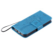 Blue Tree Design PU Leather Flip Cover Wallet Card Holder Case for IPHONE 5