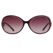 Fall in love (LianSan) Polarized Sunglasses Women's Large Frame Fashion Facial Color Rhinestone Korean Driving Mirror sunglasses GD103 Purple