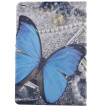 Blue Butterfly Style Classic Flip Cover with Stand Function and Credit Card Slot for iPad  Mini 4