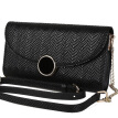 Pierre Cardin pierrecardin ladies shoulder bag Europe and the United States fashion female long paragraph hand bag leather Messenger bag small bag wallet P6C259022-75A black