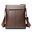 Strawman first layer of leather men's shoulder bag before and after opening the bag European and American fashion Messenger business casual practical shoulder bag brown MXC50244M-03