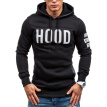 2016autumn and winter new man's health clothes European Style leisure fleece cardigan hooded