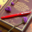 Picasso (pimio) pen pen pen pen woman business office adult student with 0.5mm Anglise series 608 bright red