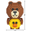 Loz Diamond 9739 Line Friends Building Blocks Set, 700 Pcs (For Kids Age 8+)